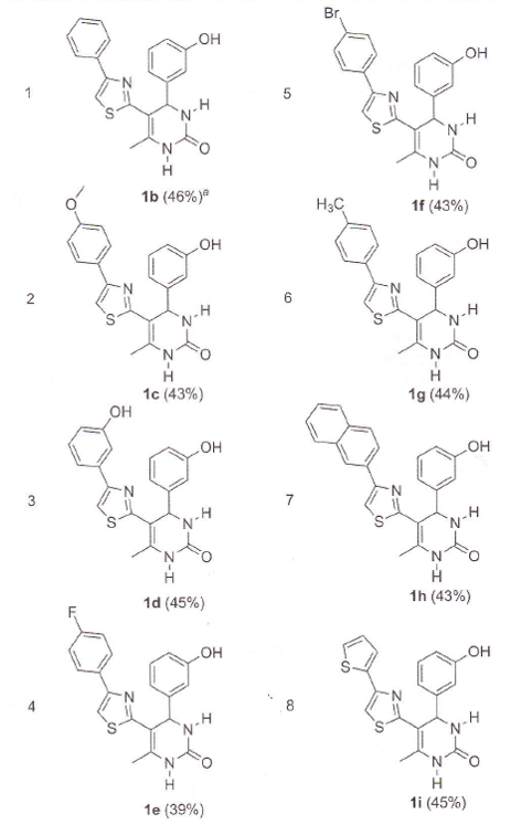 An example of multistep continuous flow synthesis of 5-(Thiazol-2-yl)-3,4-Dihydropyrimidin-2(1H)-ones 2